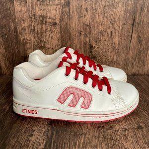 Etnies Callicut Skate Shoes Red White Sneakers